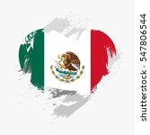 flag of mexico isolated on... | Shutterstock .eps vector #547806544