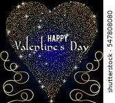 gold heart glittering isolated... | Shutterstock .eps vector #547808080