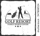 golf resort concept with golfer ... | Shutterstock .eps vector #547808524