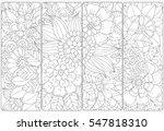 set of four bookmarks .floral... | Shutterstock .eps vector #547818310