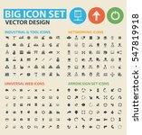 big icon set clean vector | Shutterstock .eps vector #547819918