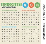 big icon set clean vector | Shutterstock .eps vector #547819930