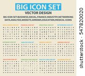 big icon set clean vector | Shutterstock .eps vector #547820020