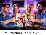 group of friends toasting... | Shutterstock . vector #547821940