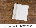 mock up magazine or catalog on... | Shutterstock . vector #547823260
