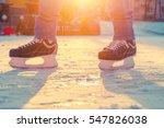 feet of skate at skating rink