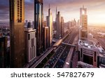 dubai skyline in sunset time ...   Shutterstock . vector #547827679