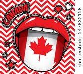 happy birthday canada   pop art ... | Shutterstock .eps vector #547832158
