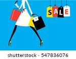 sale banner fashion woman... | Shutterstock .eps vector #547836076