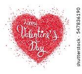 valentine card   vector... | Shutterstock .eps vector #547836190