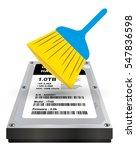 internal harddisk storage with... | Shutterstock .eps vector #547836598