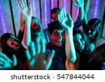group of smiling friends... | Shutterstock . vector #547844044