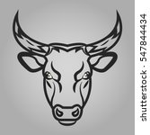 bull head icon. animals symbol... | Shutterstock .eps vector #547844434