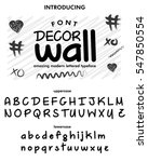decor wall typeface  labels and ... | Shutterstock .eps vector #547850554