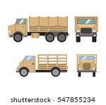 vector flat set of military... | Shutterstock .eps vector #547855234