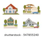 vector flat set of country... | Shutterstock .eps vector #547855240