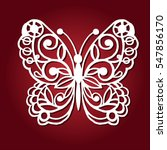 decorative butterfly for laser... | Shutterstock .eps vector #547856170