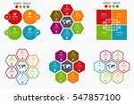 set with infographics. data and ... | Shutterstock .eps vector #547857100