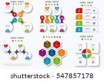set with infographics. data and ... | Shutterstock .eps vector #547857178