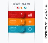 infographics template 3 options ... | Shutterstock .eps vector #547860253