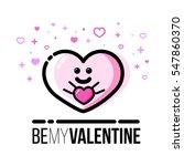 heart holding gift. saint... | Shutterstock .eps vector #547860370