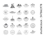 set of 25 premium labels on the ... | Shutterstock .eps vector #547861978