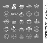 set of 25 premium labels on the ... | Shutterstock .eps vector #547862014