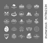 set of 25 premium labels on the ... | Shutterstock .eps vector #547862134