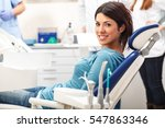 young female patient sitting on ... | Shutterstock . vector #547863346