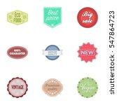 label set icons in cartoon... | Shutterstock .eps vector #547864723