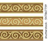 seamless mosaic tile antique... | Shutterstock .eps vector #547867759