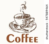 coffee cup drawing vector | Shutterstock .eps vector #547889464