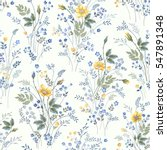 seamless floral pattern with...   Shutterstock .eps vector #547891348