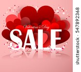 valentines day sale offer.... | Shutterstock .eps vector #547892368