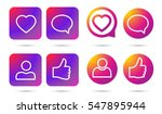 color gradient icon template....