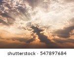 amazing back lit clouds... | Shutterstock . vector #547897684