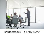 businessman giving presentation ... | Shutterstock . vector #547897690