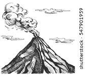 vector sketch of the volcano.... | Shutterstock .eps vector #547901959