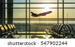 airplane departure  | Shutterstock . vector #547902244