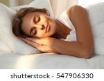 beautiful young woman sleeping... | Shutterstock . vector #547906330