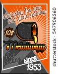 color vintage metallurgy poster.... | Shutterstock . vector #547906360