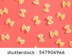 Farfalle Pasta Random Flat Lay...