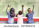 working together at elementary... | Shutterstock . vector #547909474