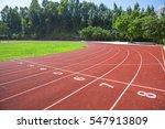 outdoor track and field stadium ... | Shutterstock . vector #547913809