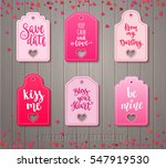 set of valentines day gift tags ... | Shutterstock .eps vector #547919530