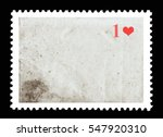 vintage blank postage stamp and ... | Shutterstock . vector #547920310