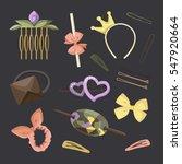 hair accessories object set ... | Shutterstock . vector #547920664