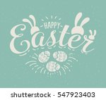 happy easter hand sketched...