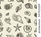 seashell seamless pattern. hand ...   Shutterstock .eps vector #547925209