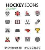 simple modern set of hockey... | Shutterstock .eps vector #547925698